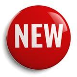 Nowy Czerwony Round 3D symbol Zdjęcia Stock