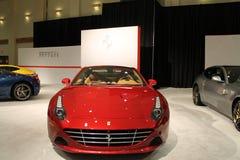 Nowy czerwony włoski sporta samochód Obraz Stock
