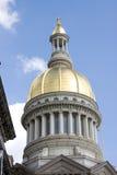 Nowy - dżersejowa Capitol kopuła Zdjęcia Royalty Free