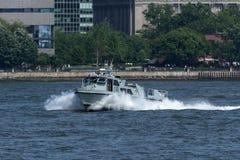 Nowy - dżersejowego stanu Milicyjna łódź Fotografia Royalty Free