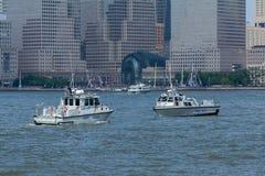 Nowy - dżersejowego stanu Milicyjne łodzie Obrazy Royalty Free
