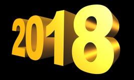 Nowy 2018 3d roku tekst Zdjęcie Royalty Free