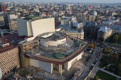 Nowy dach przy teatrem narodowym Bucharest Obraz Stock