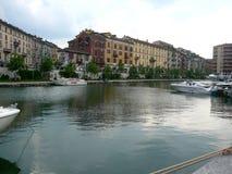 Nowy Darsena w Mediolan, Włochy Obrazy Royalty Free