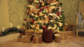 nowy dekoracji drzewny lat zbiory wideo
