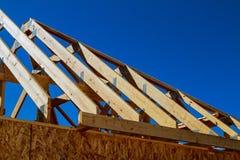 Nowy dom budowy wnętrze z odsłoniętą otoczką Fotografia Royalty Free