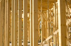 Nowy Domowy budowy tło zdjęcia stock