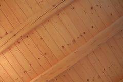 Nowy drewniany sufit Fotografia Stock