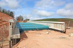 Nowy droga most w budowie obrazy stock
