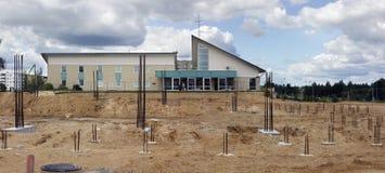 Nowy duży kościelny budynek Zdjęcie Stock
