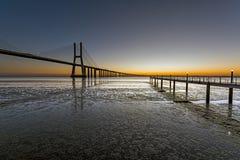 Nowy dzień w Lisbon Fotografia Stock