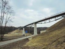 Nowy footbridge, Lithuania Fotografia Royalty Free