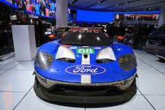 Nowy 2018 Ford GT supercar na pokazie przy Północnoamerykańskim Międzynarodowym Auto przedstawieniem Obraz Stock