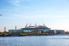 Nowy futbolowy świętego Petersburg stadium, Petersburg, Rosja obraz royalty free