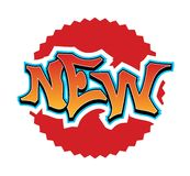 Nowy - graffiti ilustracji