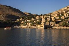 Nowy Halfeti i rzeczny Eufrat zdjęcia royalty free