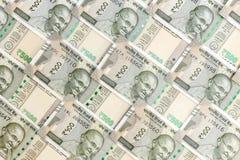 Nowy hindus 500 rupii banknot?w 5000 t?o rachunk?w pieni?dze rubli wzoru obraz stock