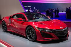 Nowy 2016 Honda NSX sportów samochód Obraz Stock