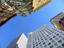Nowy i stary budynek w Kalifornia Zdjęcie Stock