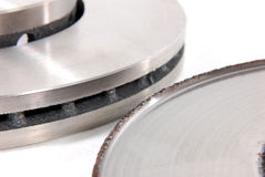 Nowy i stary talerzowego hamulca rotor Obrazy Stock