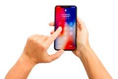 Nowy iPhone X Zdjęcie Royalty Free