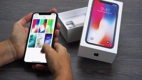 Nowy iPhone X zbiory wideo