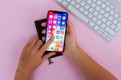 Nowy iPhone X Zdjęcie Stock