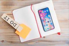 Nowy iPhone X Zdjęcia Stock