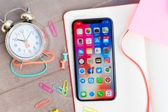 Nowy iPhone X Obraz Royalty Free
