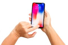 Nowy iPhone X Obrazy Royalty Free