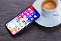 Nowy iPhone X Obraz Stock