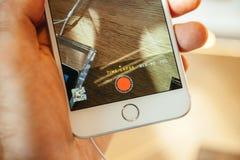 Nowy Jabłczany iPhone 6 i iPhone 6 plus Obraz Royalty Free