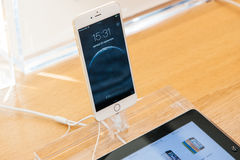 Nowy Jabłczany iPhone 6 i iPhone 6 plus Zdjęcia Royalty Free
