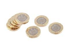 Nowy jeden Brytyjski funtowa moneta Obrazy Royalty Free