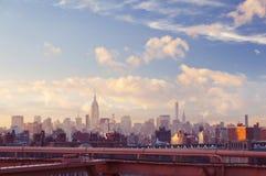 Nowy Jork środka miasta widok na lato wieczór obraz royalty free