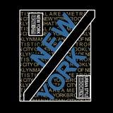 Nowy Jork Brooklyn miejsca typografii t koszula Sławny wektor royalty ilustracja