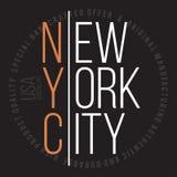 Nowy Jork, Brooklyn nowożytna typografia dla koszulka druku Koszulek grafika Fotografia Royalty Free