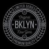 Nowy Jork Brooklyn typografia Ilustracji