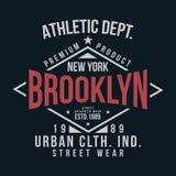 Nowy Jork, Brooklyn typografia dla koszulka druku Rocznik odznaka dla t koszulowego druku Obrazy Royalty Free