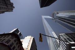 Nowy Jork budynki od niskiego widoku obraz royalty free