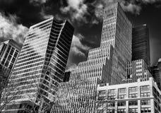 Nowy Jork Buildings-2 B&W zdjęcie royalty free