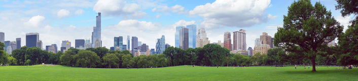 Nowy Jork central park panorama obrazy royalty free