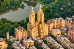 Nowy Jork centrali parka widok z lotu ptaka w lecie zdjęcia stock