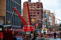 Nowy Jork dźwigowy zawalenie się Fotografia Royalty Free