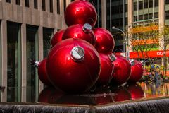 Nowy Jork dekorował dla bożych narodzeń obrazy royalty free
