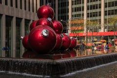 Nowy Jork dekorował dla bożych narodzeń zdjęcia stock