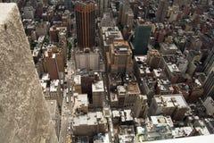 Nowy Jork drapacze chmur w wieczór Fotografia Stock