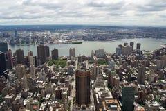 Nowy Jork drapacze chmur w wieczór Obraz Stock