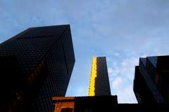 Nowy Jork drapacze chmur w wieczór Fotografia Royalty Free