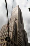 Nowy Jork drapacze chmur w wieczór Zdjęcia Stock
